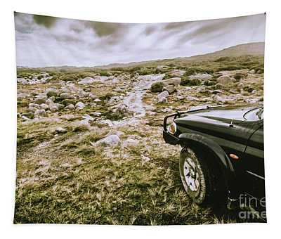 4wd On Offroad Track Tapestry