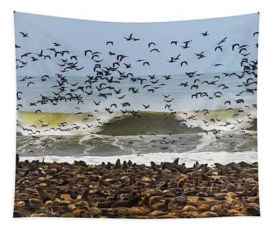 Cape Fur Seals Arctocephalus Pusillus Tapestry