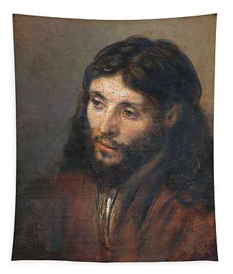 Head Of Christ Tapestry