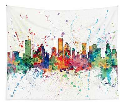 Houston Texas Skyline Tapestry