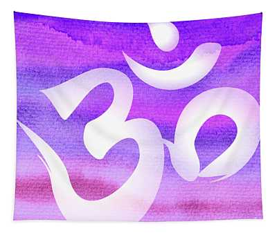 Om Symbol. Light Purple Pastels Tapestry