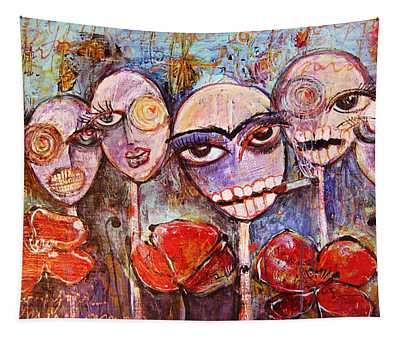5 Poppies For The Dead Tapestry