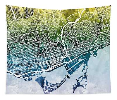 Toronto Street Map Tapestry