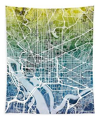Washington Dc Street Map Tapestry