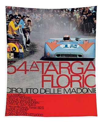 54th Targa Florio Porsche Race Poster Tapestry