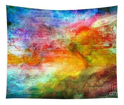 5a Abstract Expressionism Digital Painting Tapestry