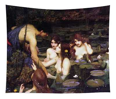 Hylas And The Nymphs Tapestry