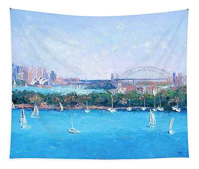 Sydney Harbour And The Opera House By Jan Matson Tapestry