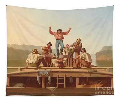 The Jolly Flatboatmen Tapestry