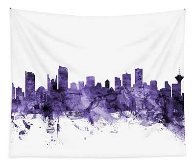 Vancouver Canada Skyline Tapestry