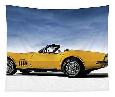 '69 Corvette Sting Ray Tapestry