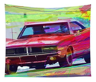 69 Dodge Charger  Tapestry