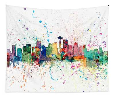 Seattle Washington Skyline Tapestry