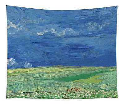 Wheatfield Under Thunderclouds Tapestry
