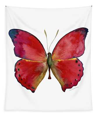 83 Red Glider Butterfly Tapestry