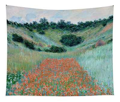 Poppy Field In A Hollow Near Giverny Tapestry