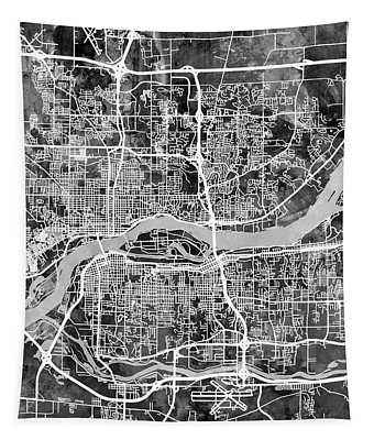 Quad Cities Street Map Tapestry