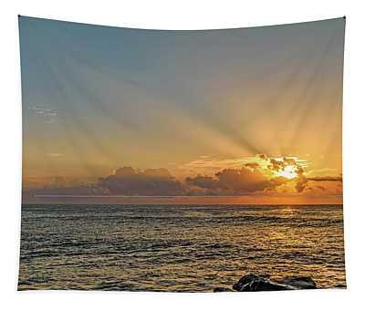 Sunrise Seascape Tapestry