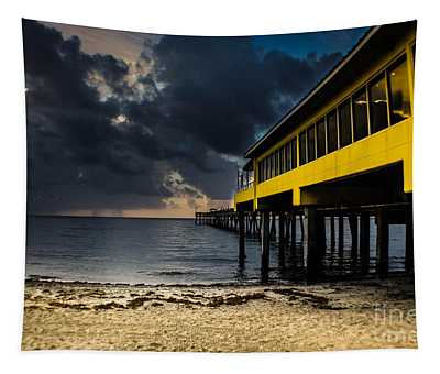 Tapestry featuring the photograph 900 Foot Fishing Pier by Gary Keesler