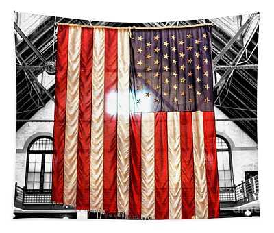 911 Ground Zero Flag Tapestry
