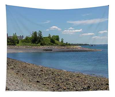A Beach At Deer Island Tapestry