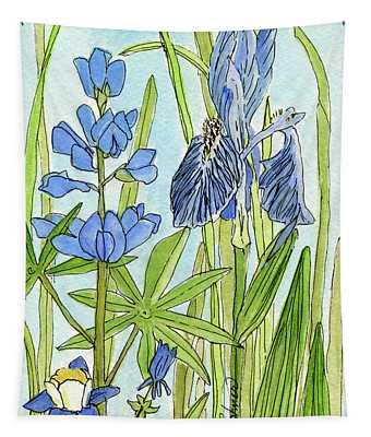 A Blue Garden Tapestry