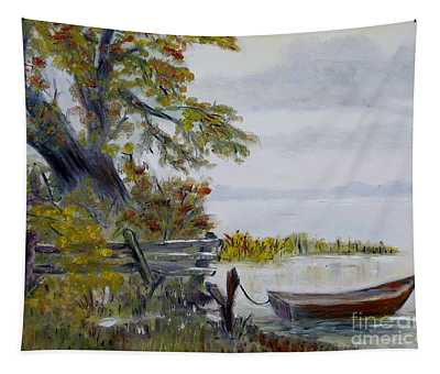 A Boat Waiting Tapestry