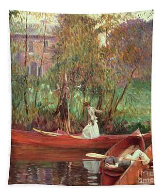 A Boating Party  Tapestry