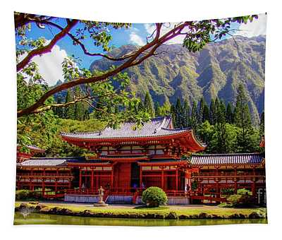 Buddhist Temple - Oahu, Hawaii - Tapestry