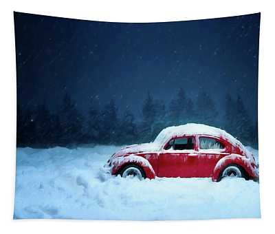 A Bug In The Snow Tapestry