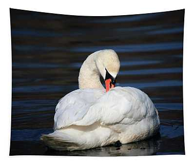 A Busy Swan Tapestry