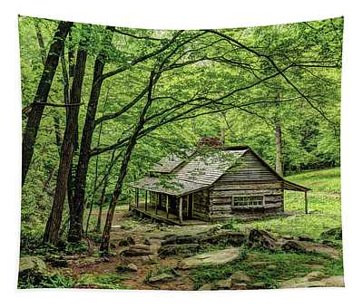 A Cabin In The Woods Tapestry