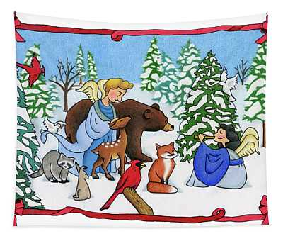 A Christmas Scene 2 Tapestry