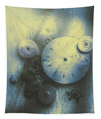 A Clockwork Blue Tapestry