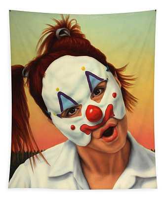 A Clown In My Backyard Tapestry
