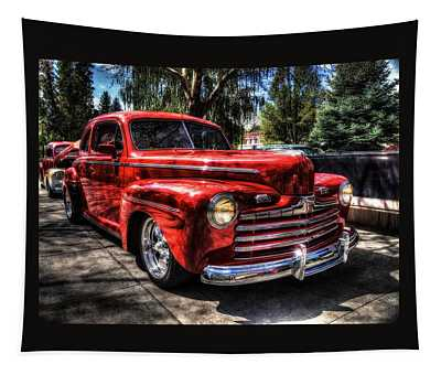 A Cool 46 Ford Coupe Tapestry