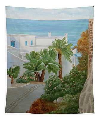 A Corner In San Jose Tapestry