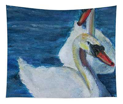 A Couple Of Swans Tapestry