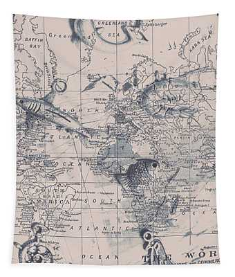 A Fishermans Map Tapestry