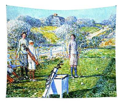 A Game Of Golf, 1923 Tapestry