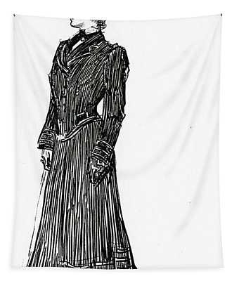 A Gibson Girl In A Dress Tapestry