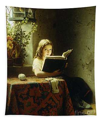 A Girl Reading Tapestry