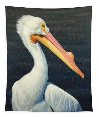 A Great White American Pelican Tapestry