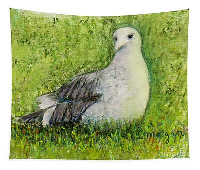 A Gull On The Grass Tapestry