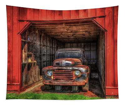 A Hiding Place 1949 Ford Pickup Truck Tapestry