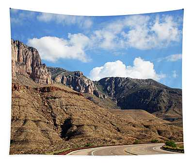 A Highway To Guadalupe Mountains National Park Tapestry