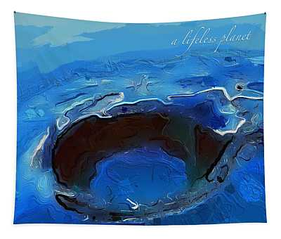 A Lifeless Planet Blue Tapestry