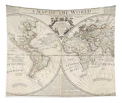 A Map Of The World Tapestry