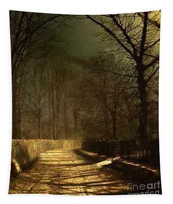 A Moonlit Lane Tapestry