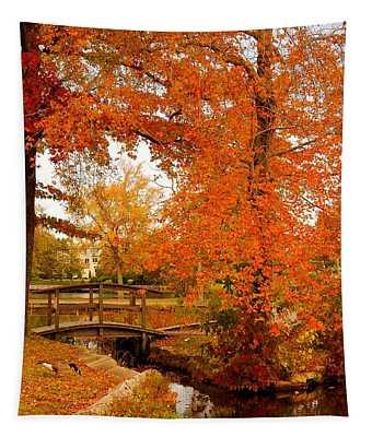 A Morning In Autumn - Lake Carasaljo Tapestry